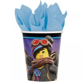 Lego Movie cups x 8