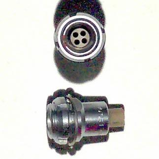 Lemo 4 way bulkhead receptacle 0B series