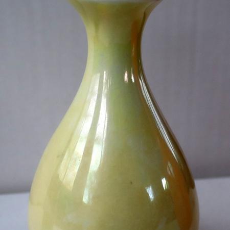 Lemon lustre vase