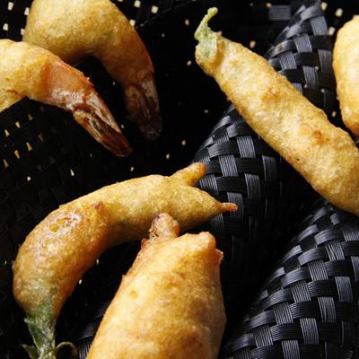 Lemon Pepper Chickpea Battered Fish, Prawns or Vegetables