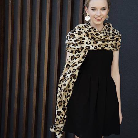 Lennox Scarf Leopard