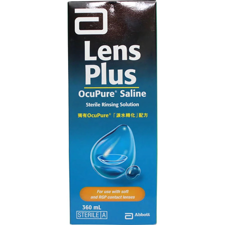 LENS PLUS Ocupure Saline 360ml