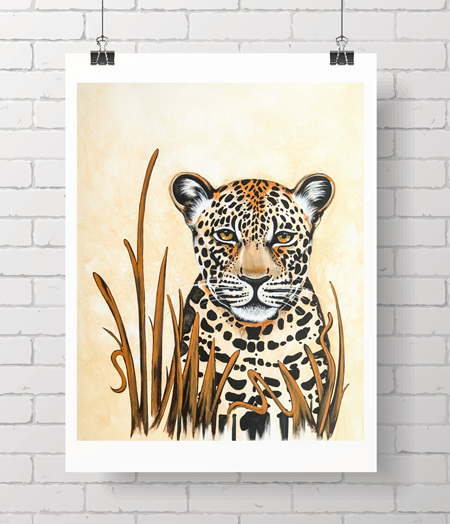 "Leopard 8x10"" - one spare print"