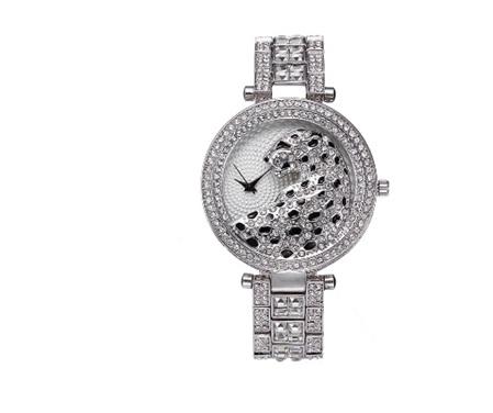 Leopard Bling Watch  - Silver