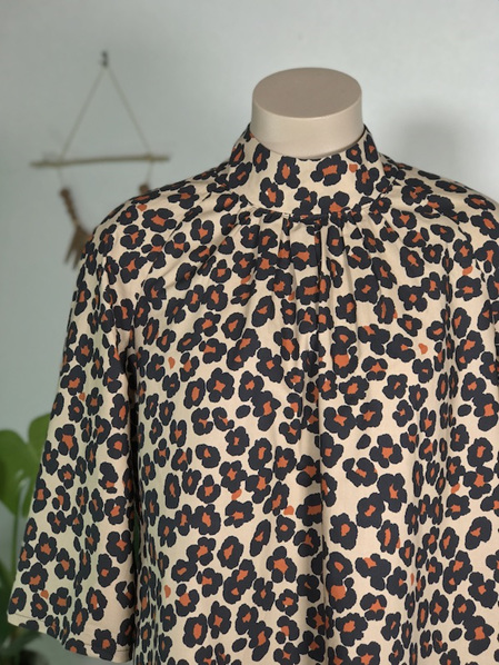 Leopard Devon polo neck top