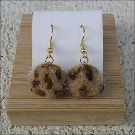 Leopard Print Round Drop Earrings