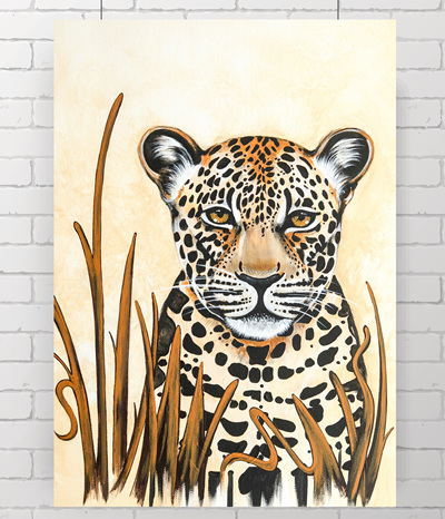 leopard - the original painting