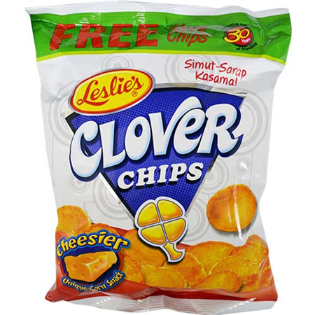 Leslie Clover Chips - Available flavour cheese & barbeque