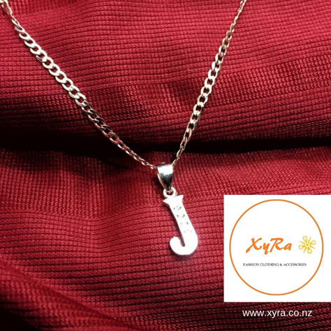 Letter Necklace - Italy Silver - any A-Z letter