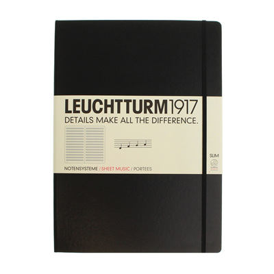 Leuchtturm1917 notebook - A4+ Slim MUSIC STAVE