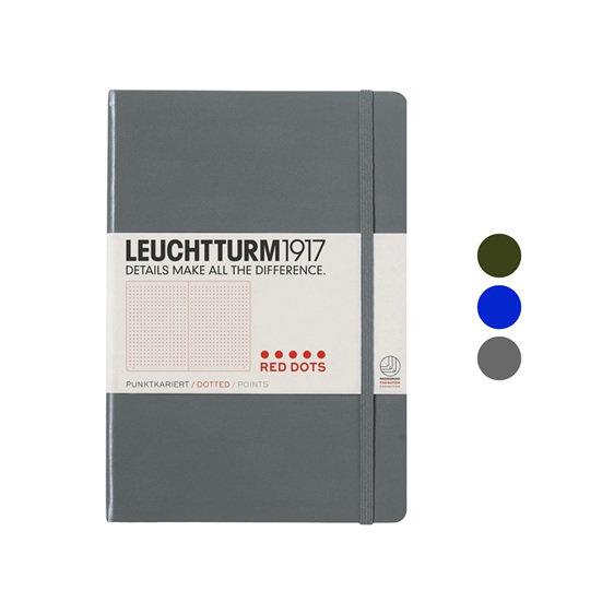 Leuchtturm1917 notebook - A5 DOTTED - red dots