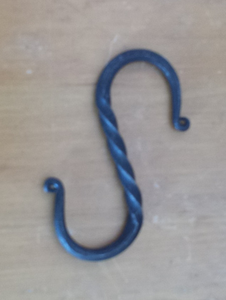 """LH 5 - """"S"""" shaped Hook for suspending Items (11 cm by 5 cm)."""