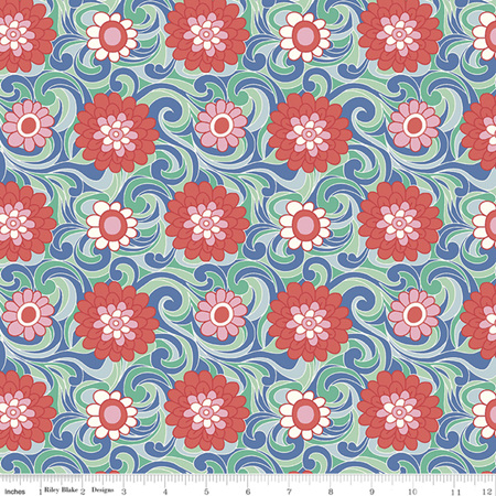 Liberty - The Carnaby Collection Bohemian Brights Carnation Carnival in C 04775951C