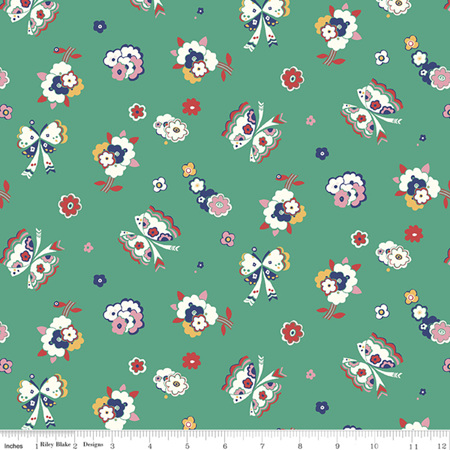 Liberty - The Carnaby Collection Bohemian Brights Fluttering Floral in B 04775944B