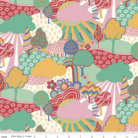 Liberty - The Carnaby Collection Bohemian Brights Sunny Afternoon in C 04775940C