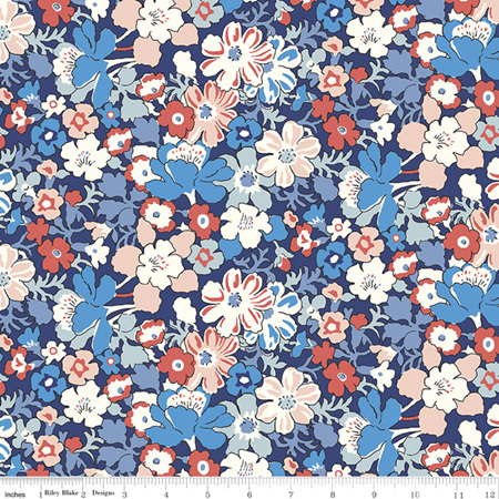 Liberty - The Carnaby Collection Retro Indigo Westbourne Posy in A 04775947A