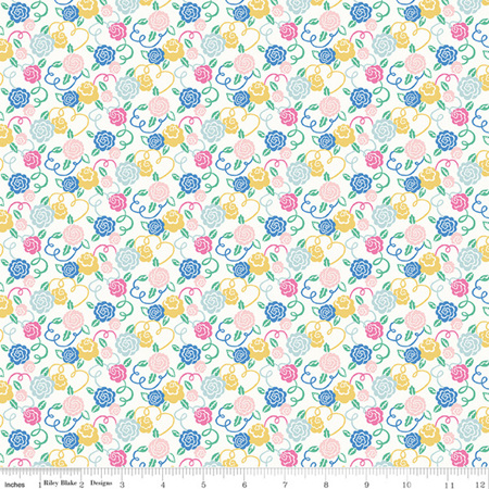 Liberty - The Deco Dance Collection Ribbon Bloom in A 04775926A