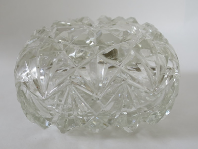 Pressed glass trinket box