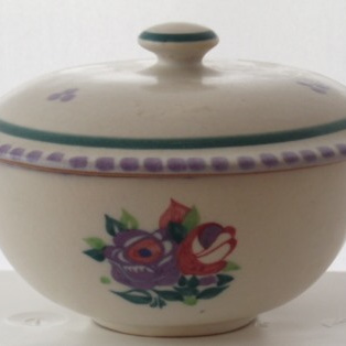 Lidded pot Carter Stabler Adams signed