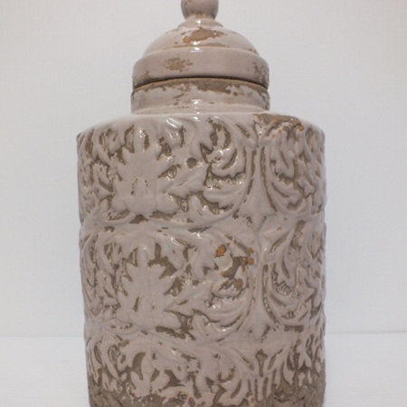 Lidded Textured container C1612