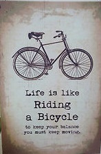 Life is Like Riding a Bicycle... Retro Metal Sign