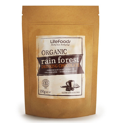Lifefoods Organic Rain Forest Drinking Chocolate 250gm