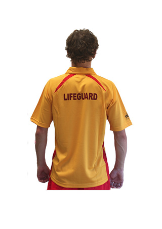 Lifeguard Yellow/Red Polo