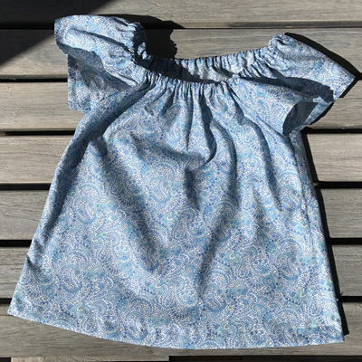 Light blue paisley vintage top