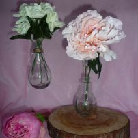 Light Bulb Vases - can hang or sit - 14cm x 7cm