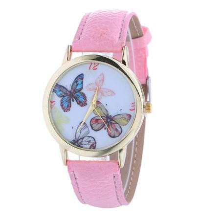 Light Pink Multiple Butterfly Watch