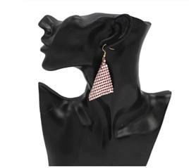 Light Pink Sequin Elegant Earrings