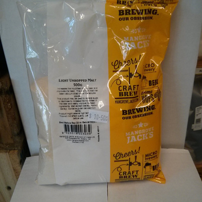 Light Unhopped Dried Spray Malt 500g