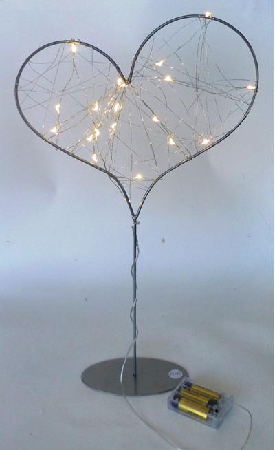 Light Up Metal Heart