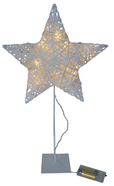 Light Up Rattan Star