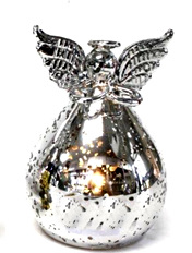 Light Up Silver Angel - Small