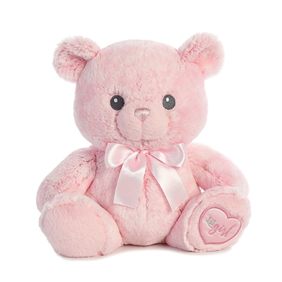 Lil' Girl the Baby Safe Plush Pink Teddy Bear by Aurora PLU7605