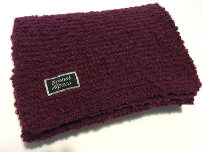 Lilac Boucle Scarf