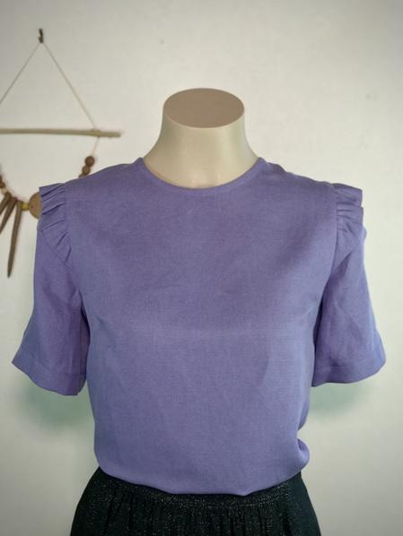 Lilac frill shoulder tee