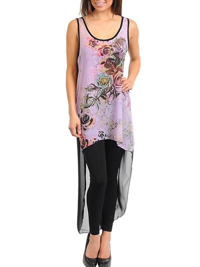 lilac sheer floral dress