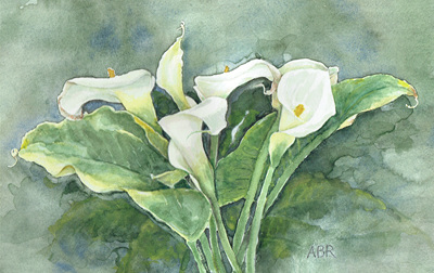 'Lilies' card (small)