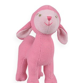 Knitted Rattle -  Sheep