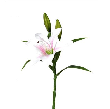 Lily Stem spray white pink 4464