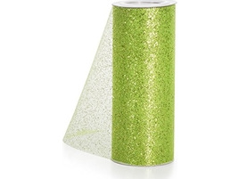Lime green glitter tulle
