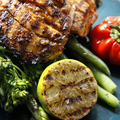 Lime & Lemongrass Chargrilled Chicken with Summer Greens
