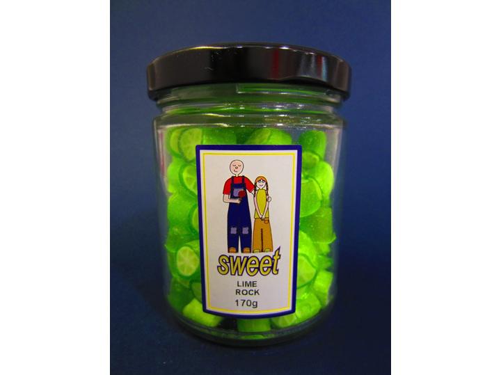 lime rock candy jar