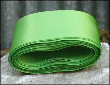 Lime Wedding Car Ribbon