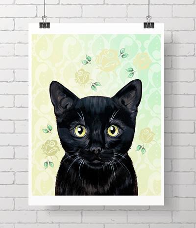 limited mint kitty print