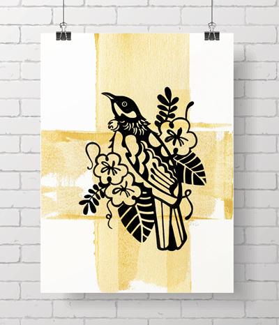 Limited original prints - Tui Gold - 4 LEFT