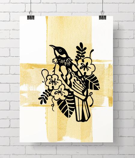 Limited original prints - Tui - last one!