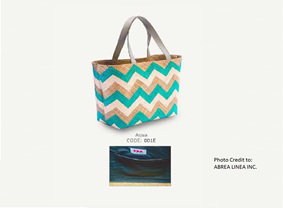 Linda - Aqua Tote Bag
